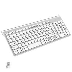 NVAHVA niski poziom hałasu ultra-cienki 101 klawiszy 2.4G bezprzewodowa klawiatura wycisz Teclado Gamer dla Mac Win XP 7 10 TV Box z androidem