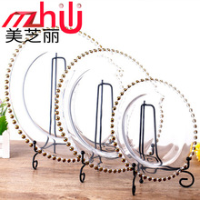 Factory direct selling wholesale gold plating processing plate wholesale glass plating coil ball pearl dish tray customization цены