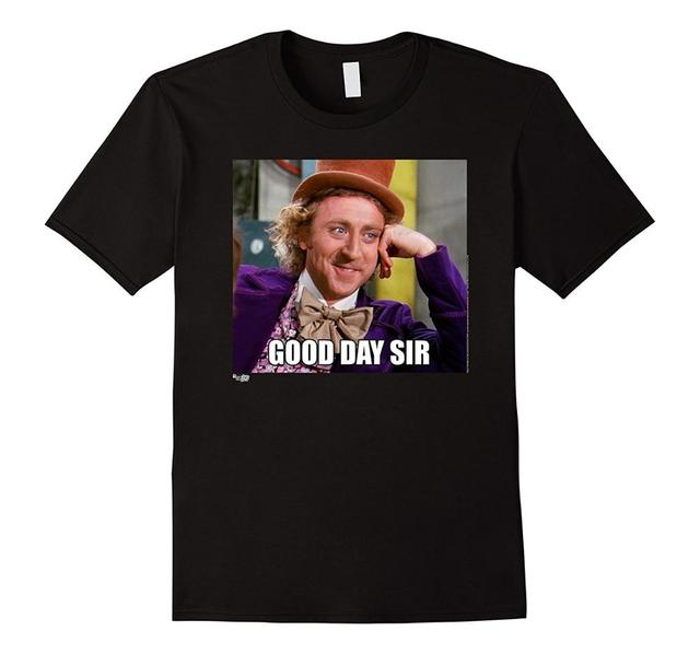 Create Your Own Shirt Graphic Men Crew Neck Short Sleeve Willy Wonka Meme Photo Good Day_640x640 make your own wonka meme,your best of the funny meme