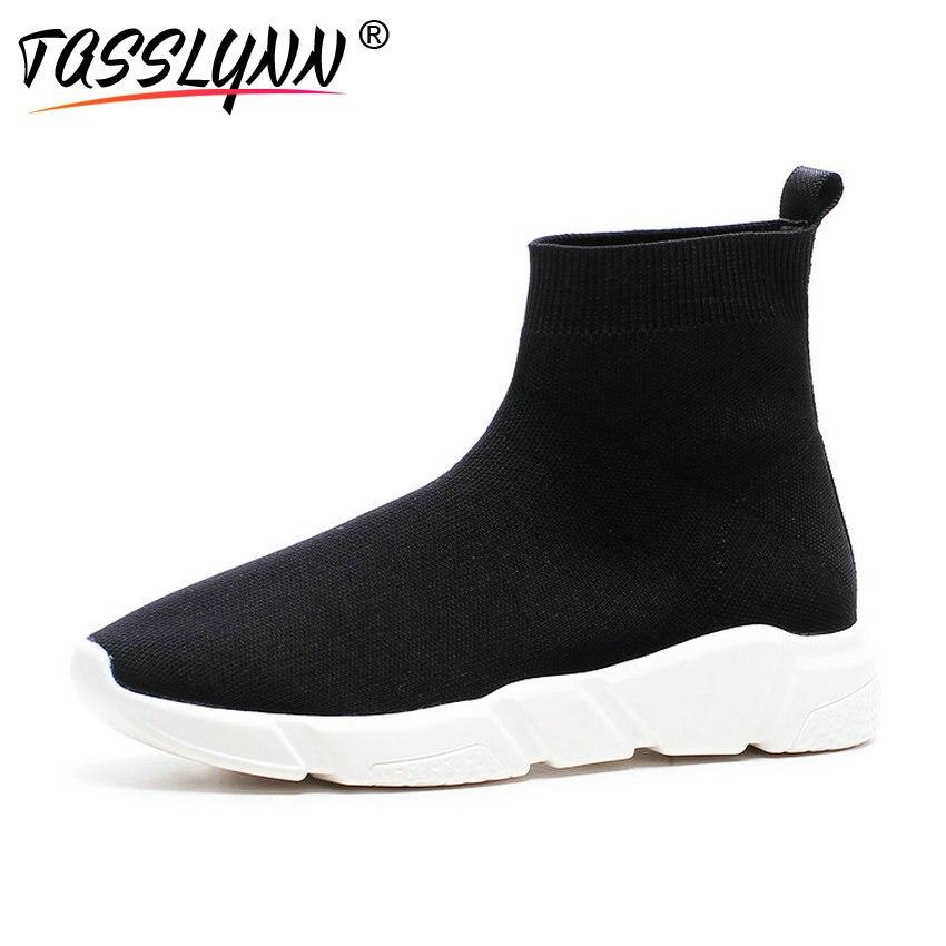 tacco Mujer Tasslynn alla ragazze con 2018 scarpe inverno Botines nero  Stivali Sneaker tacco Scarpe per Donna ... 602682bb4a1