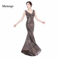 Glitter Sequins Long Evening Dress Sleeveless Floor Length Dresses Mermaid Zipper Up Formal Party Evening Gown