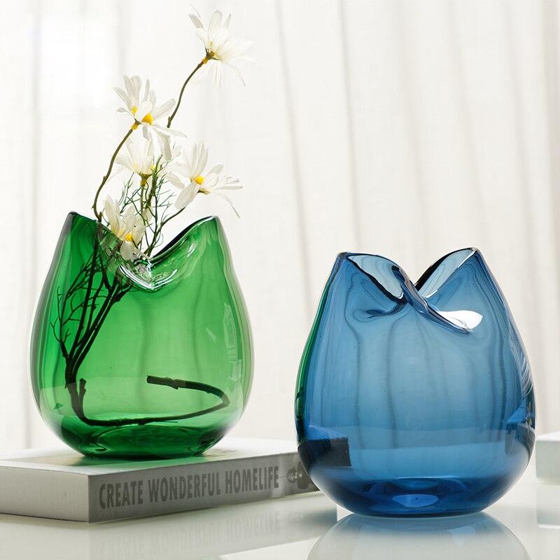 Europe glass vase Hydroponic terrarium container Tabletop Plant flowerpot Round glassware home wedding decoration vases
