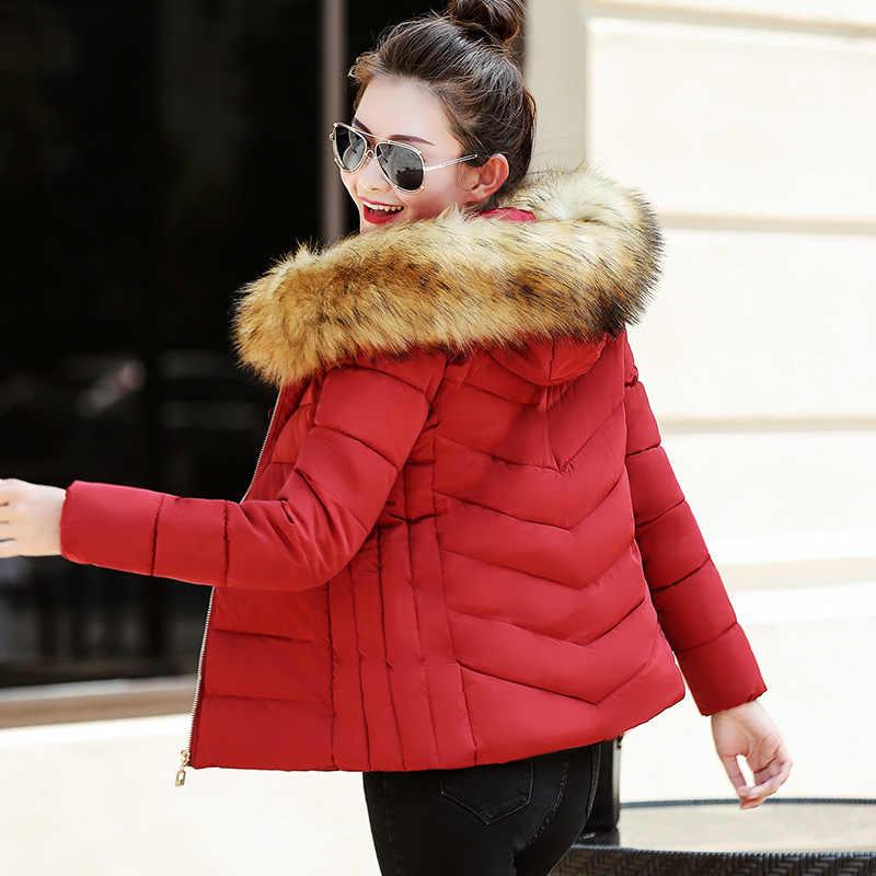 Горячая Распродажа 2018, Топ Мода, ограниченная серия, тонкая хлопковая куртка с тяжелой шерстью, Женское пальто с хлопковой подкладкой, зимнее пальто для женщин