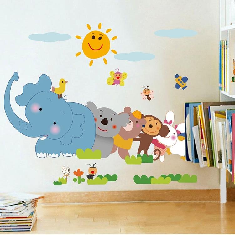 El env o libre de la historieta elefante palma paredes for Sala de estar para ninos