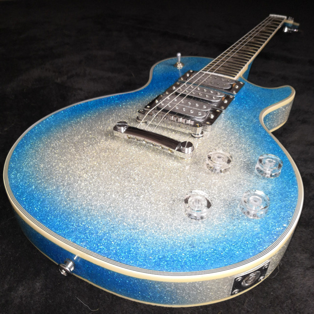 Forestwind Guitar Custom Metal Particles Are Blue Electric With Shining Paint Chrome Hardware Free Shipping