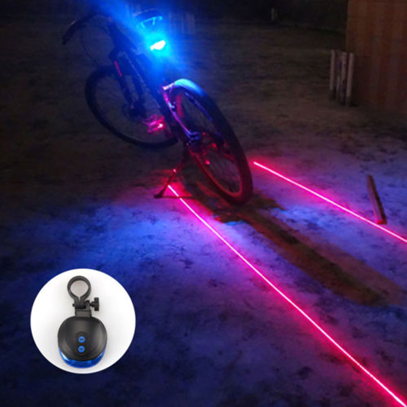 BRO Bike Light Bicycle rear back LED Light 2 Lasers Night Cycling Bike Saddle Safety MTB Road Rear Lights Lamp Backlight 7 Mode