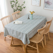 Nordic Style Waterproof Tablecloth Cotton Rectangular Simple Table Cloth Solid Wedding Home Hotel Textile Decoration tafelklee