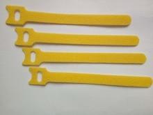 240 шт. 150*12 мм Желтый Магия Нейлон Многоразовые Кабельные Стяжки назад к спине кабельная стяжка нейлон ремень wrap тонкий крючок стяжки кабельные управлять
