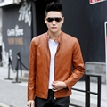 Jackets Men Slim Male Motor Motorcycle PU Leather Jackets Men 2016 New arrived Autumn Winter Business casual fashion coats