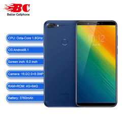 Lenovo K5 Note SmartPhone Rear Camera 16MP Front Camera 8.0MP Snapdragon 450 Octa-Core 3760mAh fingerprint 4GB+64GB OTG