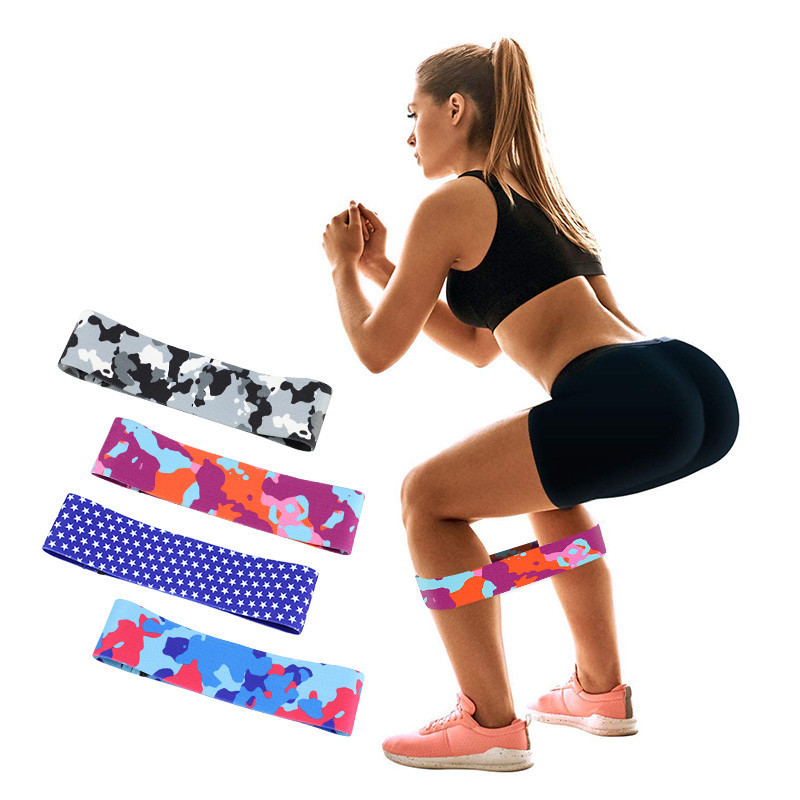 Workout Fitness Resistance Bands Gym Equipment Camouflage Rubber Loops Latex Yoga Gym Strength Training Pilates Exercise