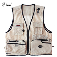 Summer Quick Dry Mesh Fishing Vest Men Women Multiple Pocket Photography Vest Outdoor Fishing Wear Tackle