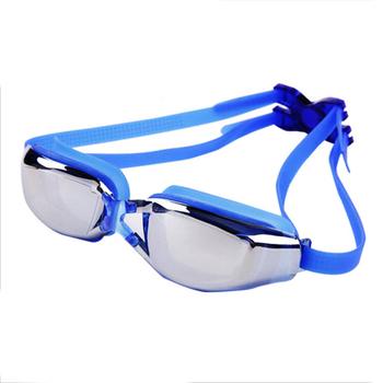 Nowe okulary pływackie Anti-Fog ochrona przed promieniowaniem UV okulary pływackie wodoodporny silikonowy pierścień uszczelniający z okulary pływackie dla dzieci dorośli tanie i dobre opinie Pływać Silikonowe Black Żel krzemionkowy WOMEN Swimming Goggles WHITE Suitable Different People