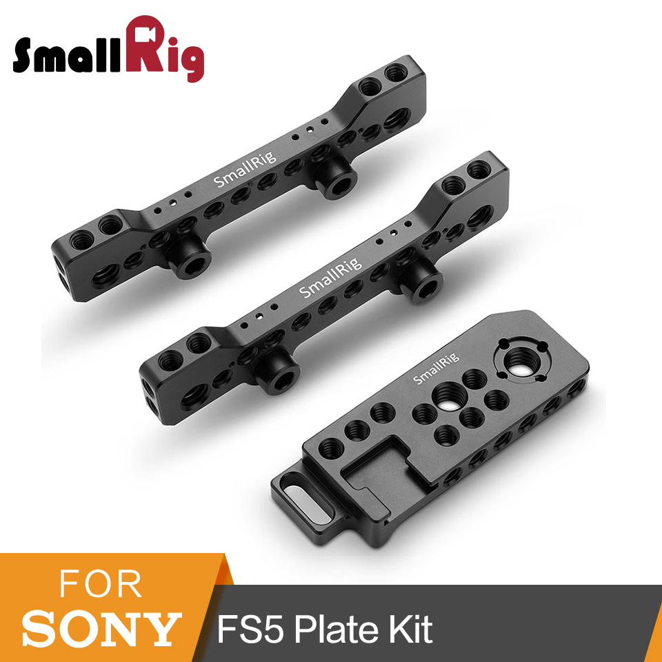 цена на SmallRig 2 Pcs Top Plate Kit With Single Right Side Plate for Sony PXW FS5 Plate Kit -1843