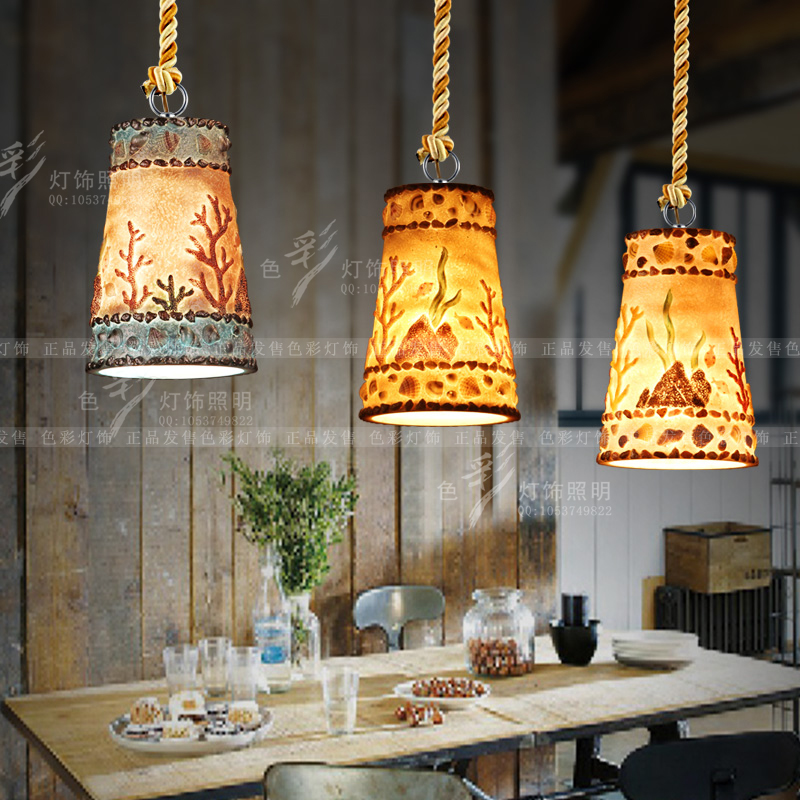 Creative personality retro loft bar restaurant pendant lights modern Resin bottle barrel cafe pendant lamp american country iron rope pendant lights loft creative personality retro restaurant bar cafe bar 1 3head pendant lamp za gy266