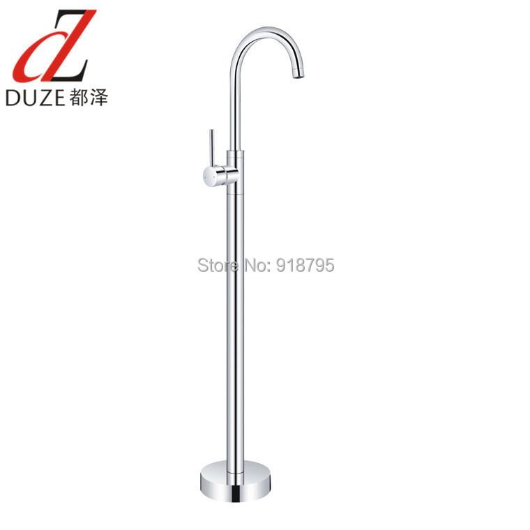 Wholesale And Retail Fashion Design Chrome Bathroom Tub Mixer Faucet Floor Standing Bathtub Mixer Tap 9118-520
