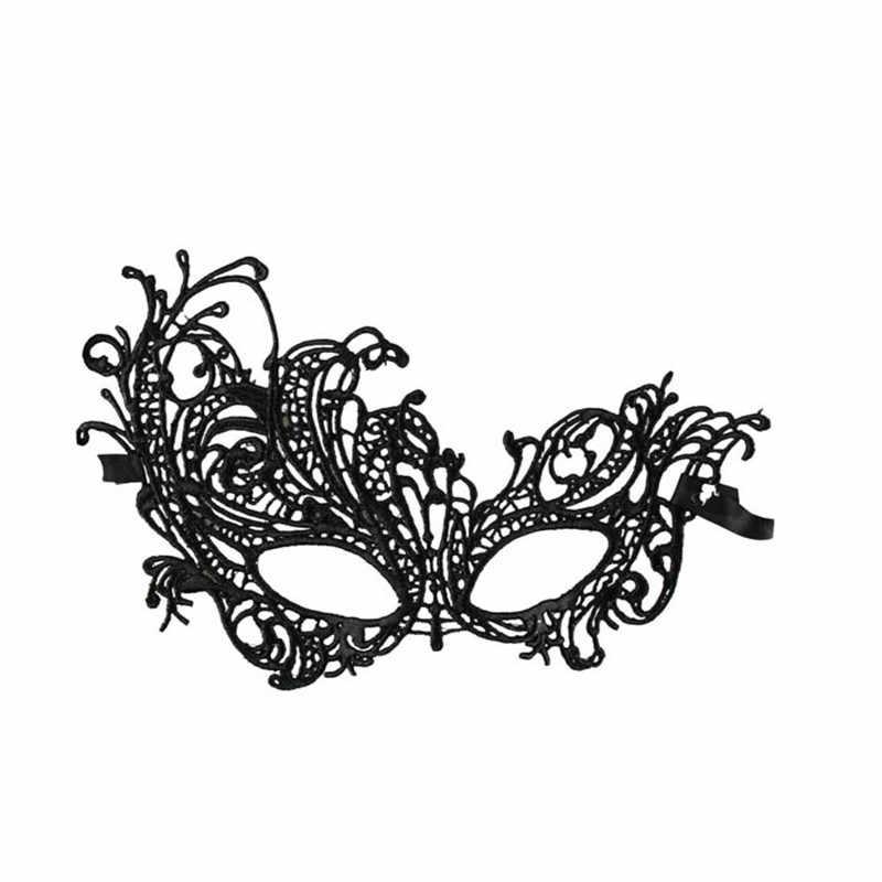 Fantasia Meia face princesa máscara do partido acessório Sexy Lace Eye máscara de Baile de Máscaras Do Partido Do Vestido Extravagante Traje cor preta em venda