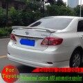Hohe qualität ABS spoiler für Toyota Corolla 2001 2013 primer oder schwarz oder weiß oder silber hinten flügel spoiler mit lampe-in Spoiler & Flügel aus Kraftfahrzeuge und Motorräder bei