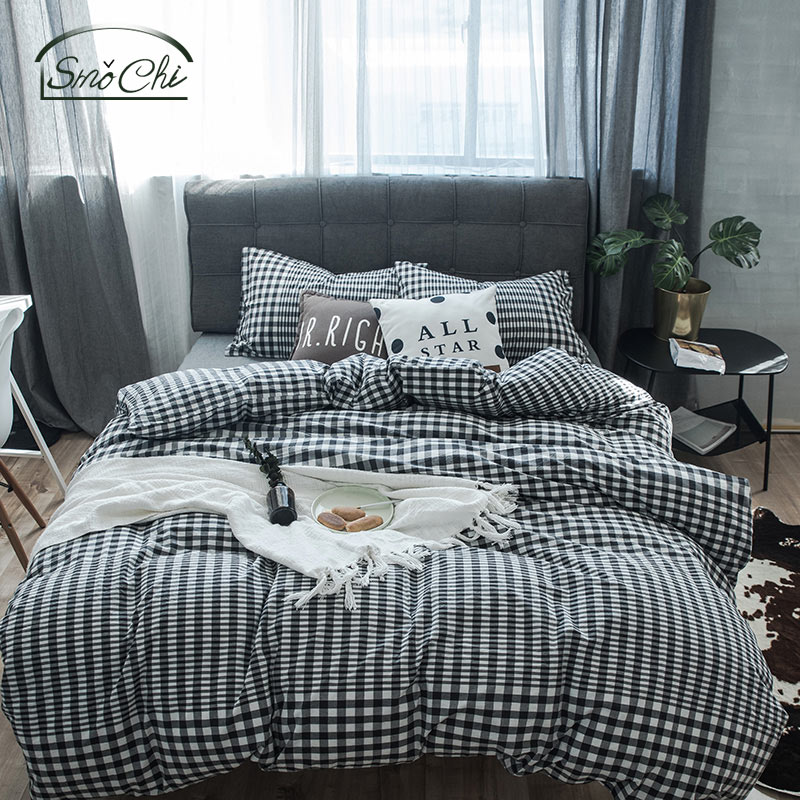 Smochi 4PCS Juego de sábanas 100% algodón Hoja de calidad, funda de - Textiles para el hogar