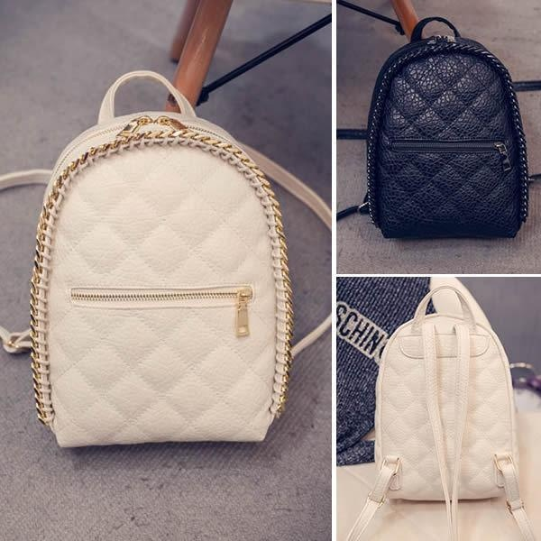 Fashion Women s Faux Leather Small Mini Backpack Rucksack Cute Bag Casual Purse