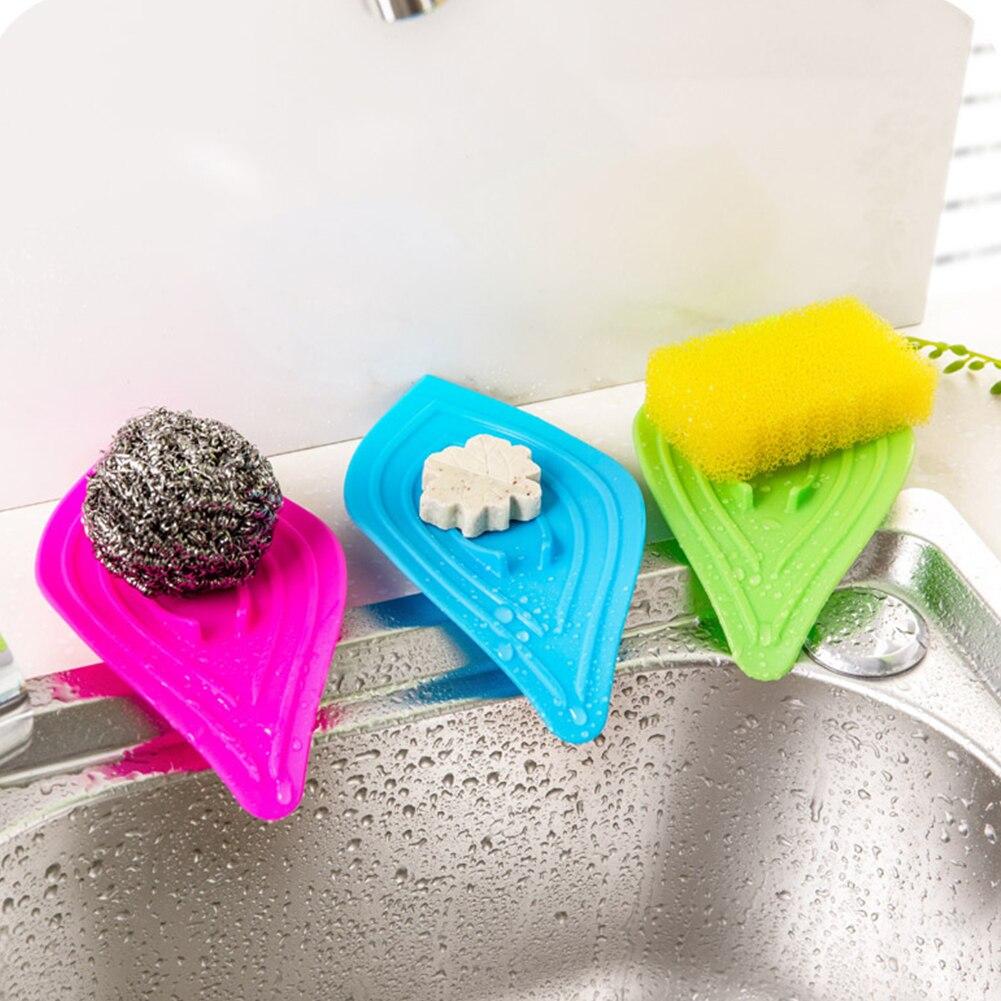 kitchen sink sponge holder multifunctional slip ring leaves soap box ...