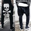 Мужская одежда череп печати шаровары случайные мешковатые брюки брюки мужские мужские брюки Размер M-XXL