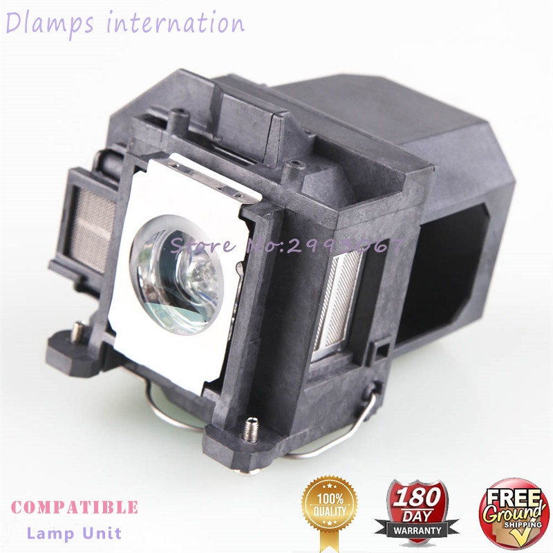 Free Shipping ELPL57 V13H010L57 Replacement Projector Lamps With Cage For Epson EB-440W  EB-450W  EB-450Wi EB-455Wi EB-460