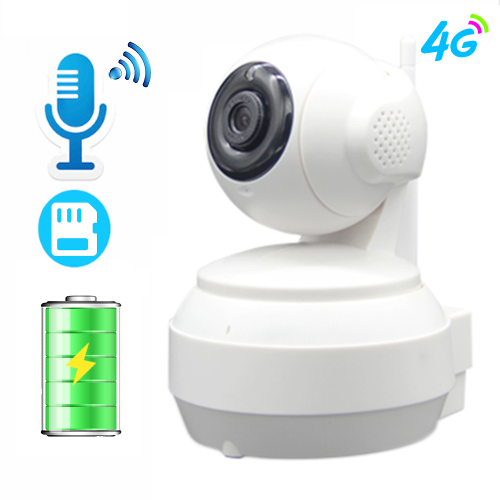 3G 4G Battery IP Camera GSM Sim Card Mobile WIFI 960P 720P HD Video Home Indoor Security Camera FDD LTE Network IR Night Vision