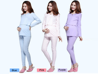 100% Cotton Maternity Nursing Clothes Sleepwear Pregnant Costume Top Quality Pajamas Breastfeeding Maternity Clothes Mother Suit