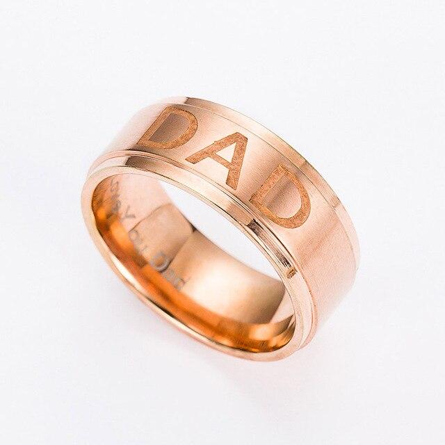 Real Dad Titanium Steel Ring