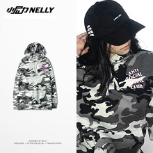 Original New skt Camouflage Kanye West hoodie men cotton couple anti social social club cdg play classic Trasher sweatshirt
