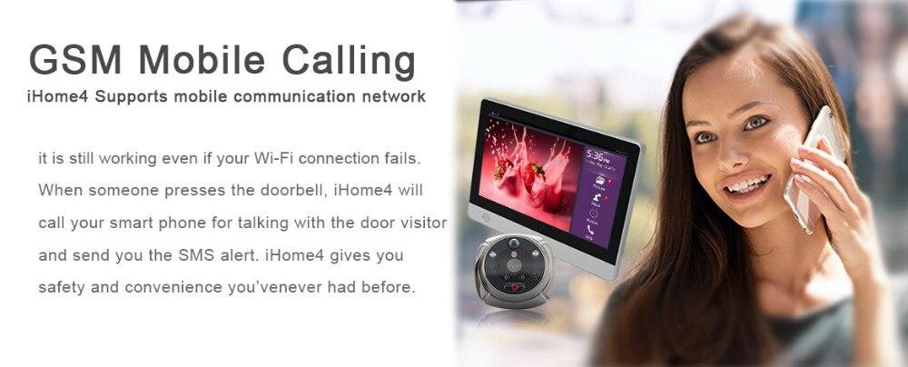 Купить с кэшбэком (1 Set) The Newest Wifi/Wireless Peephole Doorbell with Camera Door Viewer 7'' LCD Display+Movement Detect+IR Night Vision