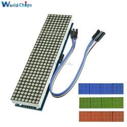 Max7218 светодиодный микро-контроллер 4 в 1, дисплей с 5P линейной точечной матрицей, модуль управления для Arduino 8x8 Dot 5V Common Cathode
