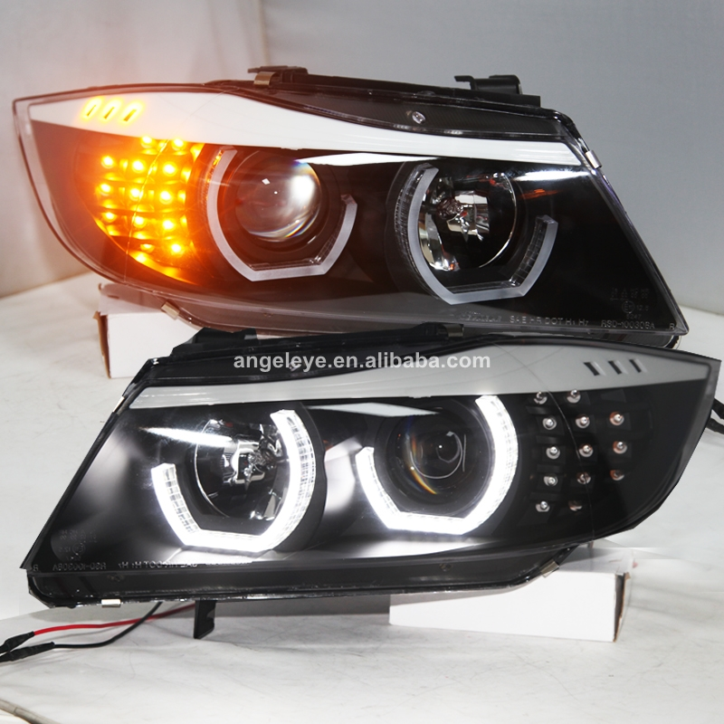 Hot Sale For Bmw E90 330i 320i 318i Led Angel Eyes Headlight With