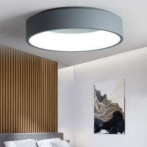Image 1 - Black/white/Gray Minimalism Modern LED ceiling lights for living room bed room lamparas de techo LED Ceiling Lamp light fixtures