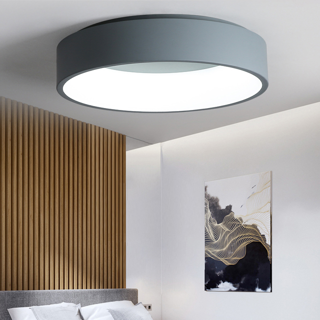 Black/white/Gray Minimalism Modern LED ceiling lights for living room bed room lamparas de techo LED Ceiling Lamp light fixtures