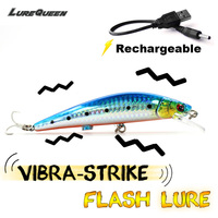 12cm USB Minnow Fishing Lure Artificial Baits Minow Rechargeable Lures Fake Bait Swimbait Twitch Buzz Vibra