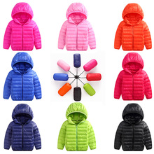 цена 2018 Winter Jackets  Lightweight Baby Girls Ultra Light Down Jacket Kids 90% White Duck Down Hooded Kids Portable Winter Coat онлайн в 2017 году