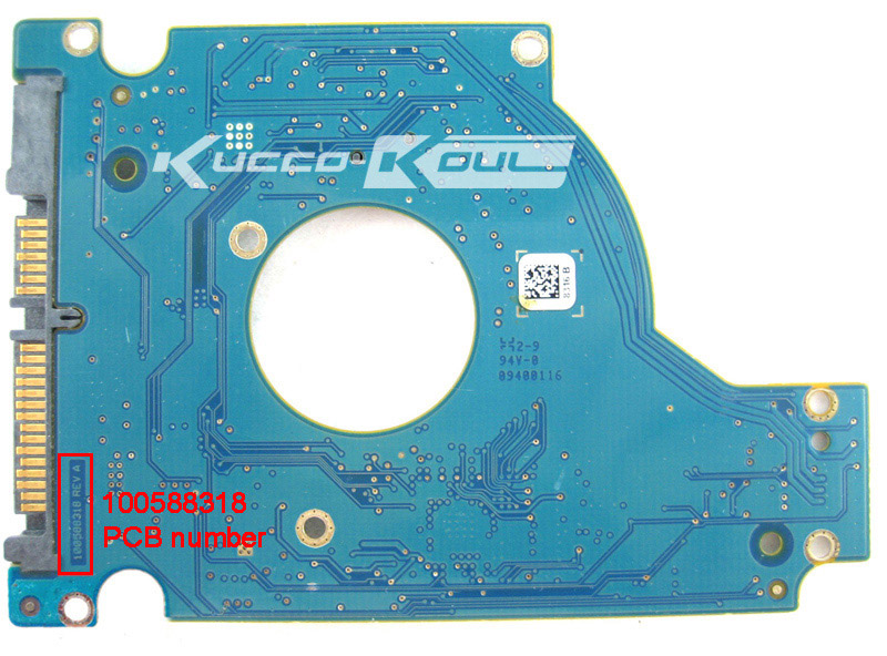hard drive parts PCB board printed circuit board 100588318 for Seagate 2.5 SATA hdd data recovery hard drive repair ST9640320AS