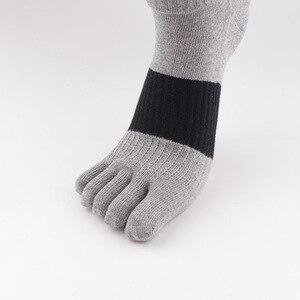 Image 4 - O novo algodão cor luta cinco dedos meias masculinas desodorante casual suor dedos meias masculinas