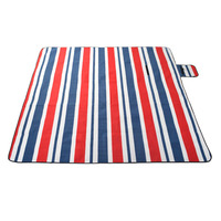 200x200Cm Waterproof Folding Picnic Blanket Outdoor Beach Mat Beach Blanket Sand Proof Extra Large Portable Hiking Red #8