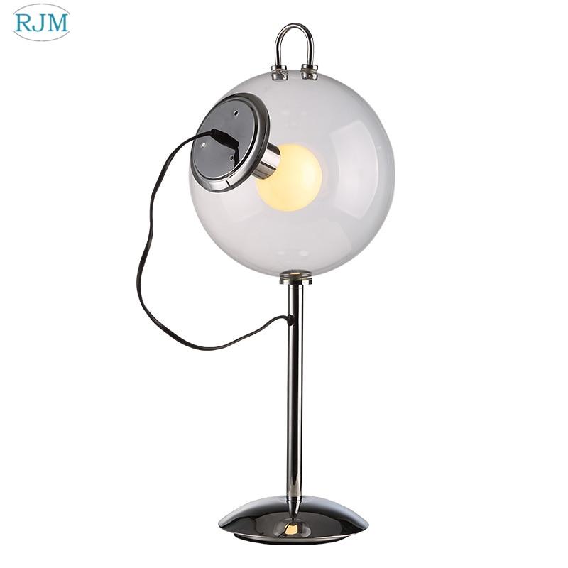 Modern Creative Bubble Glass Table Lamp Nordic Minimalist Ball Led