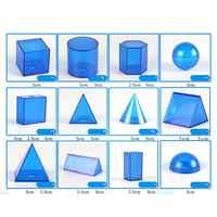 12 teile/satz Transparent 3D Geometrische Feststoffe Modell Abnehmbare Lehre Visuelle Hilfsmittel Volumen Form Spielzeug Mathematik Frühen Pädagogisches Student