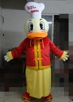 big eyes duck chef mascot costume adult duck mascot