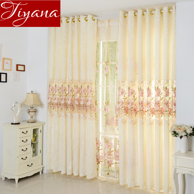 Huayin Velvet Linen Curtains Tulle Window Curtain For: Europe Luxury Embroidered Velvet Window Curtains For