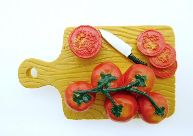 50PCS Breakfast Food Bread 3D Realistic Resin Stereo Fridges Magnets Cute Flexible Fridge Magnets Gift Toys New Designed