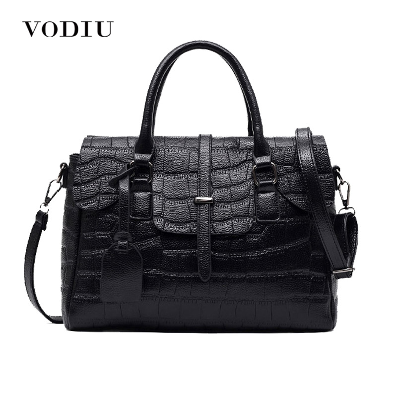 Women Bag Handbag Tote Over Shoulder Crossbody Messenger Leather Female Candy Color 2017 Crocodile Big Fashion Fringe Motorcycle