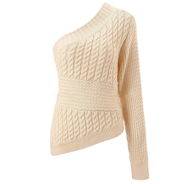 One Shoulder Sweater - 3 Sizes 2