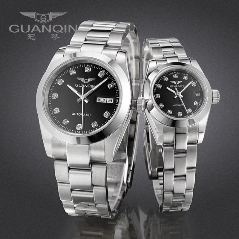 GUANQIN Luxus Liebhaber uhren Original Top Marke Luxus Paar Uhren Armbanduhr Mode Wasserdicht Männer und Frauen Armbanduhren - 3