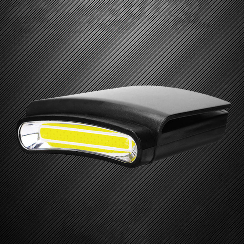 Outdoor Headlamp Camping Cap Hands free Red strobe COB LED Torch Headlight Emergency Mini Flashlight(China)